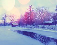 Free Winter View Royalty Free Stock Images - 35453169