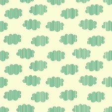 Strip Clouds Seamless Pattern Stock Photos