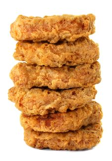 Free Delicious Breaded Chicken Pieces Stock Photography - 35458452