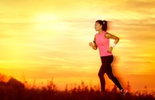 Active Woman Jogging Royalty Free Stock Photography