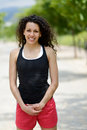 Free Young Cheerful Smiling Woman In Sports Wear In Urban Background Stock Photography - 35461582