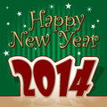 Free Happy New Year 2014 Royalty Free Stock Image - 35462986