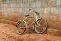 Free Bike Against Brick Wall Royalty Free Stock Image - 35465036