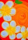 Free Frangipani Flowers Paint Stock Image - 35466841