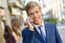 Free Attractive Young Businessman In Urban Background Stock Photos - 35461933