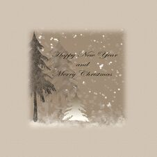 Merry Christmas And Happy New Year Royalty Free Stock Image