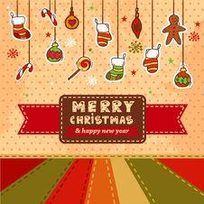 Free Vector Christmas Card Stock Photos - 35463153