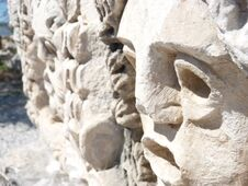 Free Carved Faces Royalty Free Stock Photo - 35466735