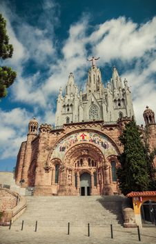 Free Church Sacred Heart.Tibidabo. Barcelona. Stock Photo - 35469730