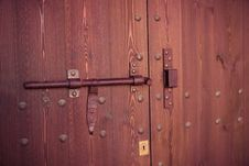Free Old Wooden Door Royalty Free Stock Photography - 35469747
