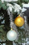 Free Christmas Balls On Fir-tree In Snow Stock Photography - 35463192