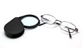 Free Eye Glasses And Magnifying Glass Isolated On White Stock Photos - 35473203