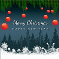 Free Christmas Greeting Card. Merry Christmas Lettering,  Illustration Royalty Free Stock Photo - 35473345