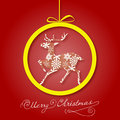 Free Christmas Greeting Card. Merry Christmas Lettering,  Illustration Royalty Free Stock Image - 35473376