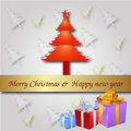 Free Christmas Greeting Card. Merry Christmas Lettering,  Illustration Royalty Free Stock Photo - 35473405