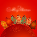 Free Christmas Greeting Card. Merry Christmas Lettering,  Illustration Royalty Free Stock Photography - 35473417