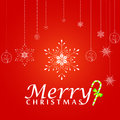 Free Christmas Greeting Card. Merry Christmas Lettering,  Illustration Stock Image - 35473431