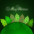 Free Christmas Greeting Card. Merry Christmas Lettering,  Illustration Royalty Free Stock Photos - 35473438