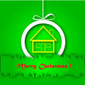 Free Christmas Greeting Card. Merry Christmas Lettering,  Illustration Royalty Free Stock Photos - 35473458