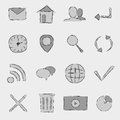 Free Icons Set Stock Photo - 35477200