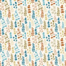 Free Seamless Plant Pattern Royalty Free Stock Photo - 35470935