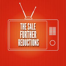 Free Silhouette Of A TV, The Sale Further Reduction Royalty Free Stock Photo - 35472935