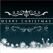 Free Christmas Greeting Card. Merry Christmas Lettering,  Illustration Royalty Free Stock Photo - 35473315