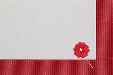 Free Cardboard Background With Paper Flower Stock Photos - 35473903