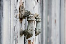 Free Iron Ring Knocker Stock Image - 35474291