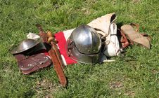 Free Armour Clothes And Weapons. Stock Photography - 35475322