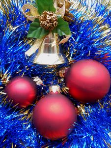 Christmas And New Year Decorations Royalty Free Stock Image
