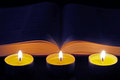 Free Bible With Three Candles Royalty Free Stock Photo - 35483095