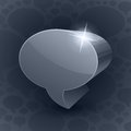 Free Shining 3d Chat Bubble Symbol On Grey Background Stock Photos - 35486043