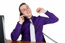 Free Businessman Calling Royalty Free Stock Photo - 35484115