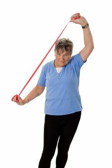 Free Senior Woman Stretching Stock Photo - 35484270
