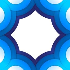 Free Abstract Blue Paper Circles Background Royalty Free Stock Photos - 35486098