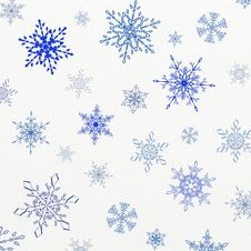 Free Snowflakes Background Royalty Free Stock Photo - 35488935