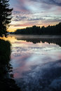 Free Sunset Over The Northern River Royalty Free Stock Photography - 35492757