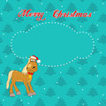 Free Christmas Card With Horse Stock Images - 35496054