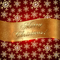 Free Vector Red Background With Snowflakes And Greeting Stock Image - 35499131