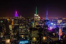 Free NY At Night Royalty Free Stock Photography - 35491617