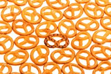 Free Pretzels Isolated On A White Background Royalty Free Stock Photography - 35492787