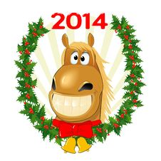 Funny Horse, Symbol Of The Year Royalty Free Stock Photo