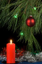 Free Red Candle And Christmas Tree Stock Image - 3551081