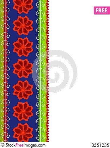 Free Christmas Poinsettia Border Royalty Free Stock Photo - 3551235
