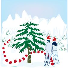 Free Christmas Couple Royalty Free Stock Photo - 3550275