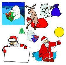 Free Bear, Deer, Santa Stock Photography - 3550422
