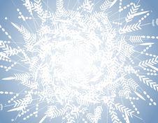 Free Blue Winter Snowflake Pattern Background Stock Image - 3550901