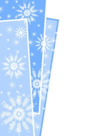 Free Snowflake Xmas Wrapping Border Stock Photography - 3551022