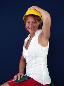 Free Lady Builder Stock Image - 3551871